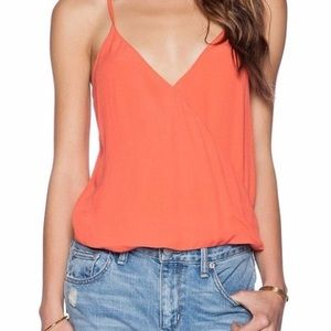 🌈 SOLD 🌈LOVERS + FRIENDS coral wrap camisole top